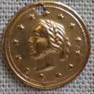 Coin Charm Cracker Jack Lady Profile 5/8in