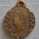 Cracker Jack Charm Bronze Tone Plastic Coin