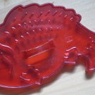 Vintage HRM Cookie Cutter Fish Bass Trout Red Plastic