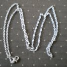 Silvertone Metal Chain Necklace 24inches