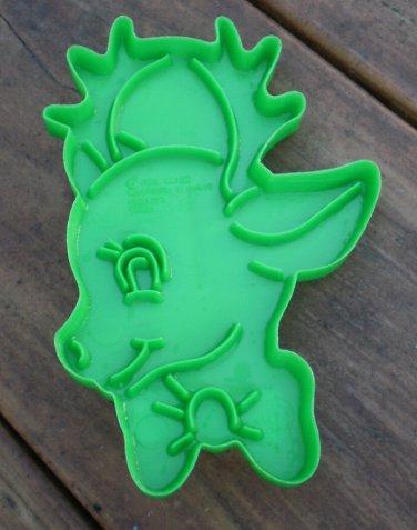 Vintage Cookie Cutter Wilton Reindeer Head Rudolph Plastic 1988 Green