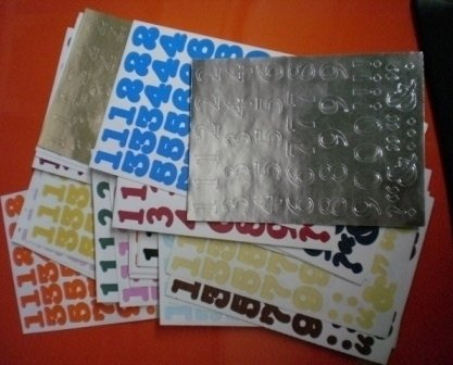 Creative Memories Stickers Numbers Huge Lot numerals 51sheet