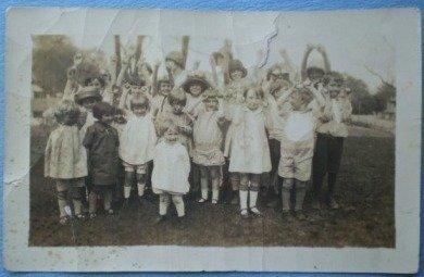 Vintage Photograph Group of Children Party School