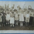Vintage Photograph Group of Children Party School