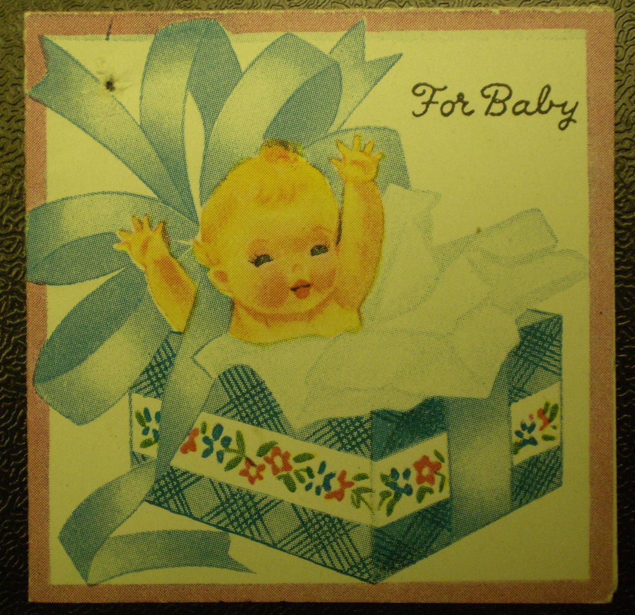 For Baby Gift Greetings Card Vintage 1940