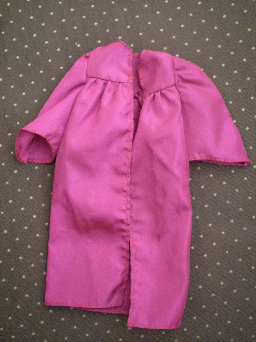 Barbie Graduation Toga Maroon for Doll Gown High School College