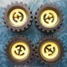 Lego Technic Tires Wheels Yellow Black 2346 Lot 4