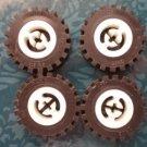 Lego Technic Tires Wheels White Black 2346 Lot 4