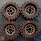 Lego Technic Tires Wheels Grey Black 2346 Lot 4