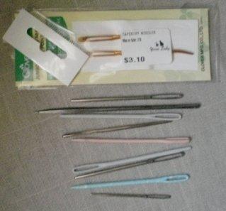 Tapestry Needles Lot Clover Jumbo 219 Plastic Metal