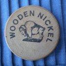 C&D Scrap Metal Co Houston Texas Wooden Nickel Vintage Wood TX