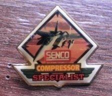 Senco Compressor Specialist Pin Enamel Gold-Tone Metal USA
