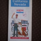 California Nevada Exxon Road Map 1978 Vintage