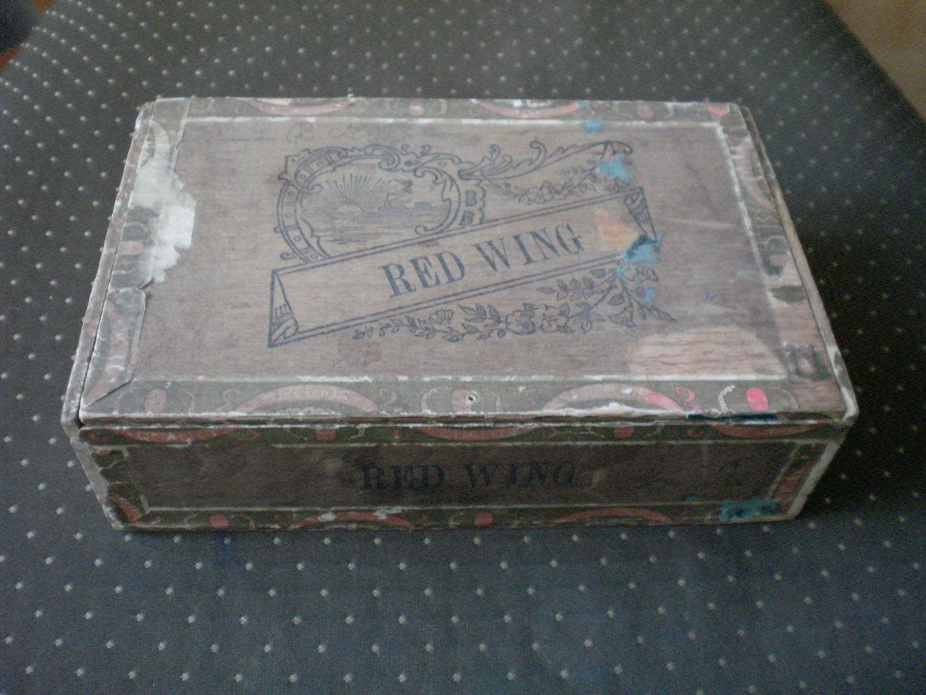 Red Wing Cigar Box Wood Factory 338 Ohio Vintage 1896