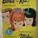 Barbie Ken Fashion Booklet 1962 Midge Yellow Mattel