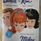 Barbie Ken Fashion Booklet 1962 Midge White Mattel