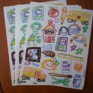 Kids Artwork Stickers AGC Vintage 6 sheets Loose 9559 Drawings Crayon