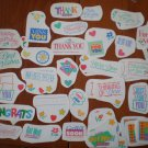 Greetings Stickers Lot Current Thank You Thinking Miss You Get Well Soon Vintage