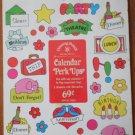 Calendar Perk Ups Stickers Drawing Board Greeting Cards Vintage