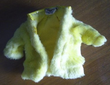 Yellow Coat Jacket for Skipper Barbie Friend BW tag Vintage