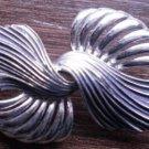 Silver Tone Bow Ribbon Pin Brooch Vintage Broach