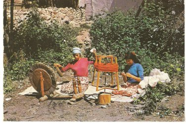 Ankara Istanbul Turkey Post Card 1986 Weaving Loom Ahmet