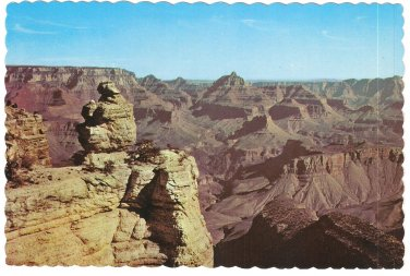 Postcard Duck on the Rock Grand Canyon Parl AZ Fred Harvey