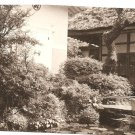 Japan Postcard Garden Pond House Bridge