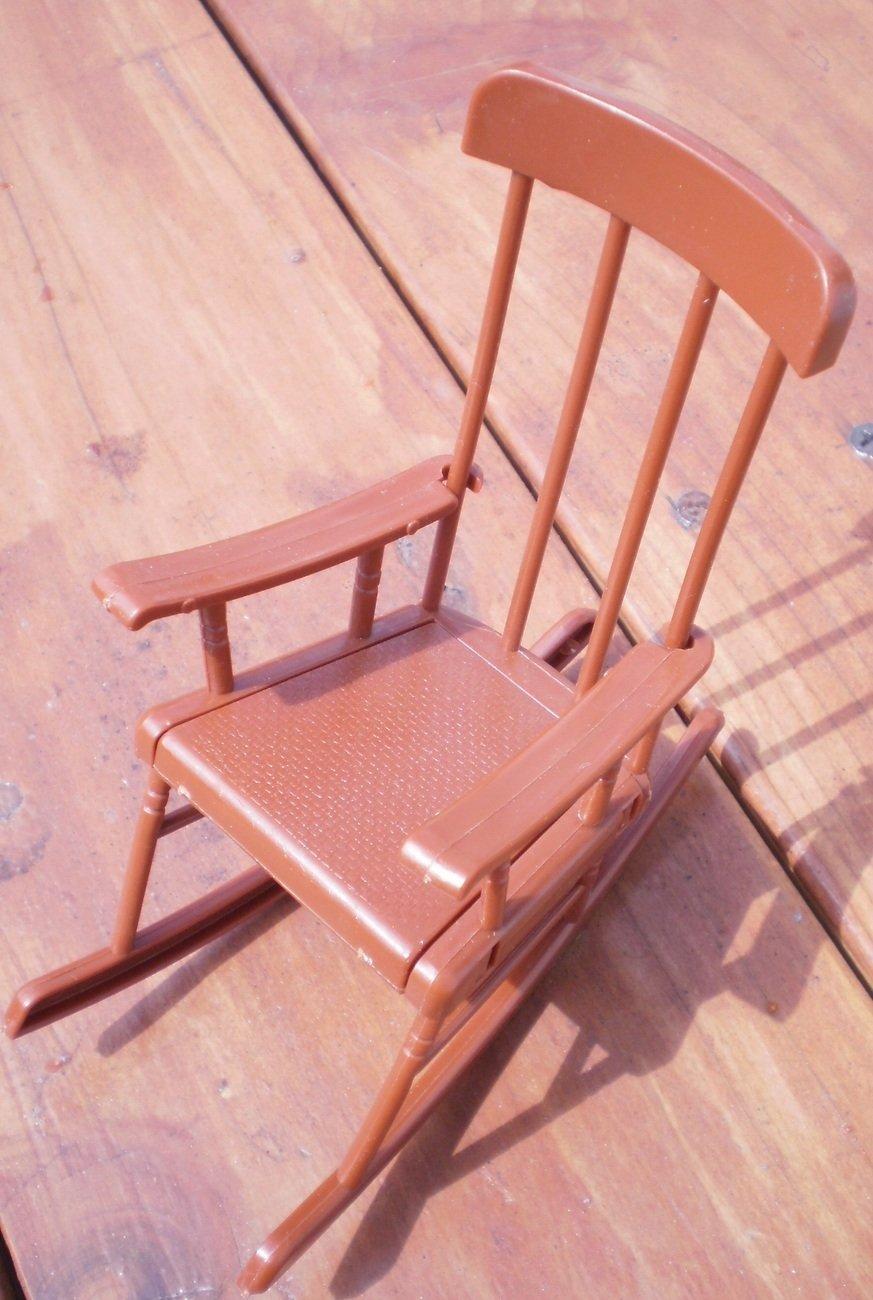 Mattel 1973 Brown Rocking Chair Sunshine Family Vintage