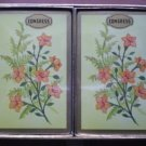 Congress Playing Cards Cel U Tone Sealed Yellow Peach Flowers 2 decks
