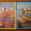 Vintage Playing Cards 2 Decks Sealed Lighthouse Boats Seashore Scenes
