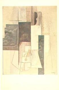 Vintage Postcard Pablo Picasso Cubist Pasadena Museum Woman with Guitar