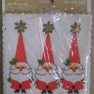 Hallmark Christmas Coasters Vintage Santa Claus Paper
