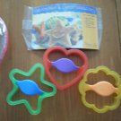Pampered Chef Kids Cookie Making Cutter Plastic Star Heart Flower Recipe Set Crazy About Kids