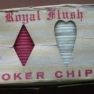 Royal Flush Poker Chips Interlocking Vintage Plastic