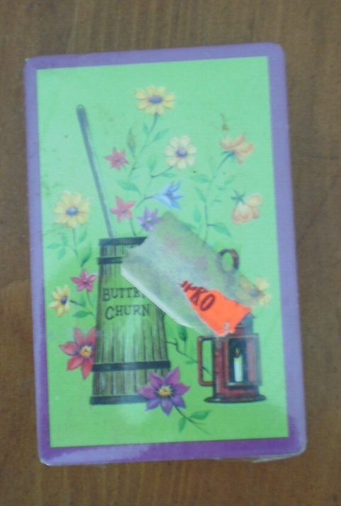 Butter Churn Playing Cards Flowers Vintage Sealed Deck NOS