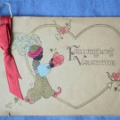Vintage Friendship Valentine's Card Black Arab Heart