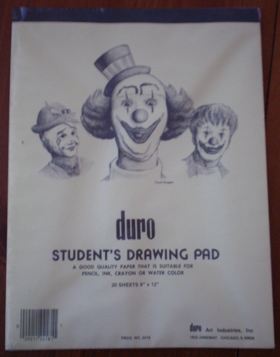 Duro Student Drawing Pad 20 sheets 9x12 2418 NIP Quality Paper