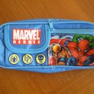Marvel Heroes Plastic Pencil Case Blue Zippered Nylon Pouch