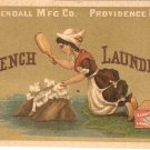 French Laundry Kendall Mfg Vintage Trading Trade card