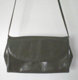 Frenchy of California Vintage Shoulder Bag Green Olive Purse