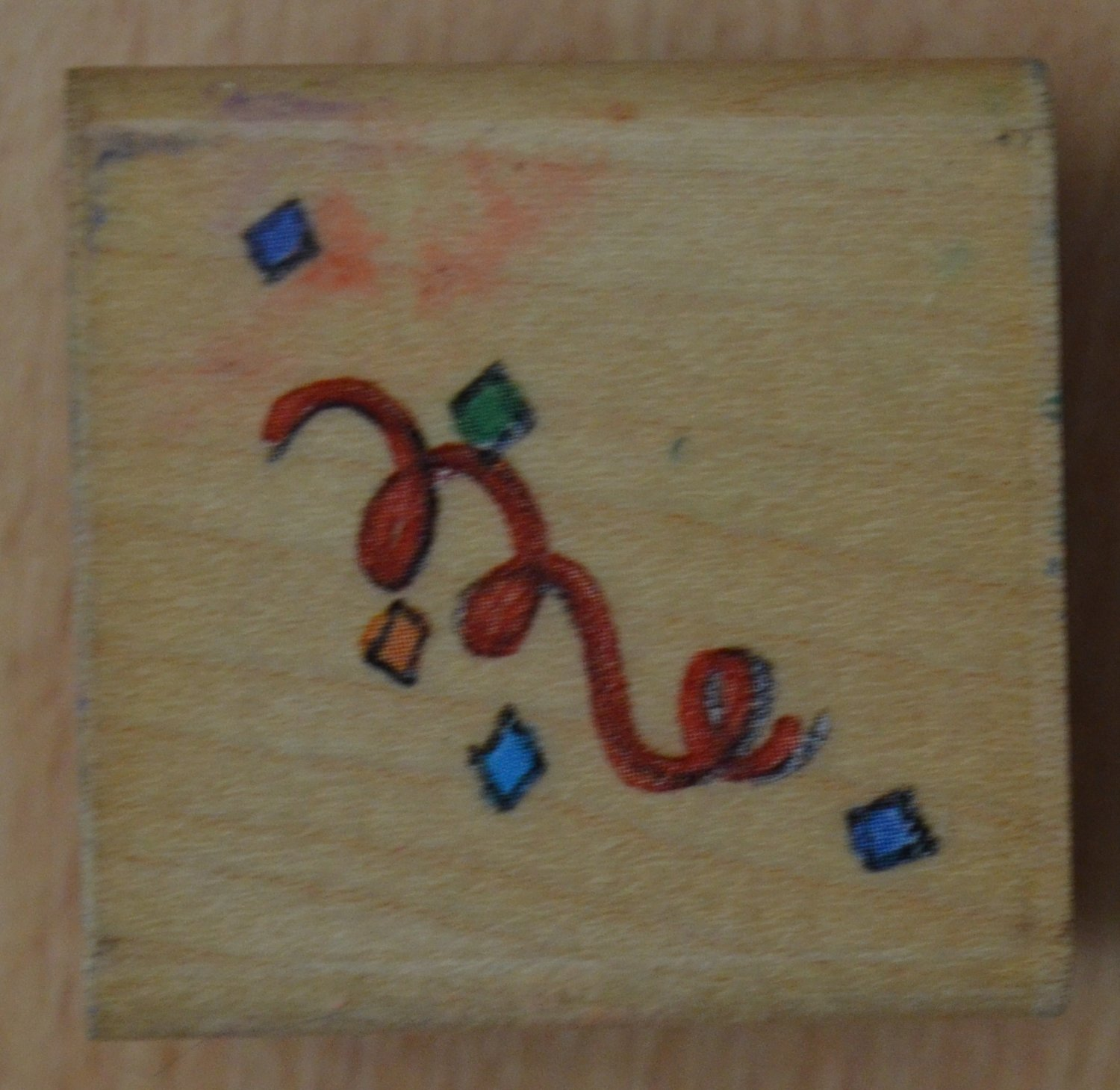 Confetti Rubber Stamp Me and My Big Ideas MRS10532 Wood Mounted