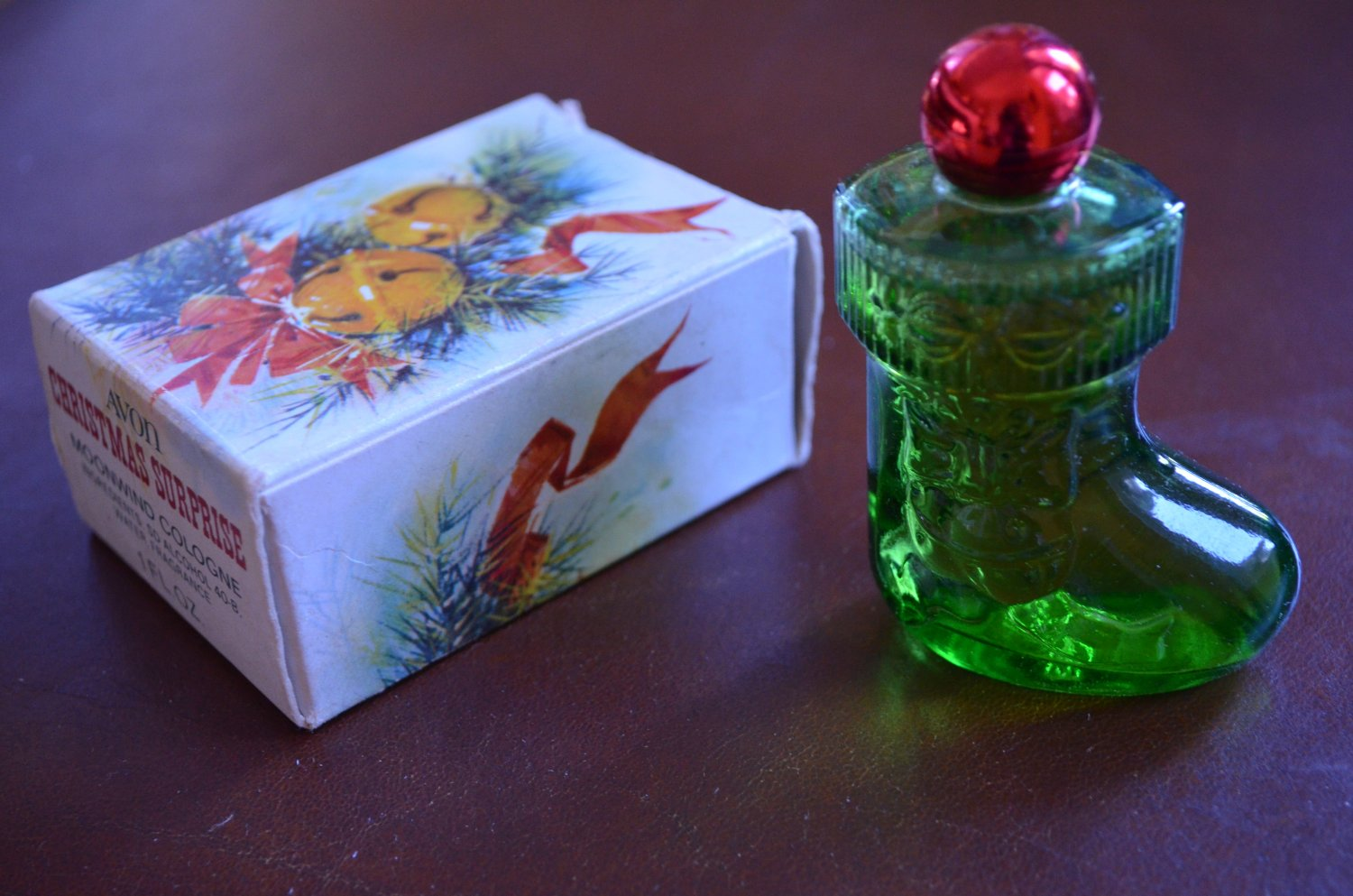 Avon Moonwind Cologne Christmas Surprise Stocking 1oz in Box Vintage