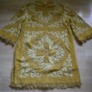 Vintage Terry Blouse Dress Mustard Ugly Carmel by the Sea