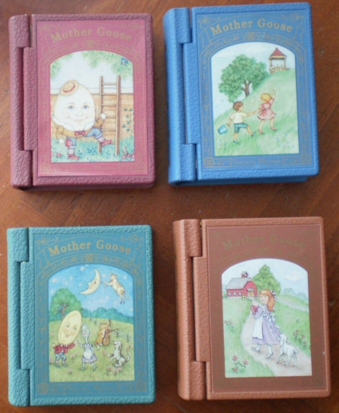 Hallmark Book Ornaments Mother Goose Lot 4 1993-1996 Nursery Rhymes Shadow Box