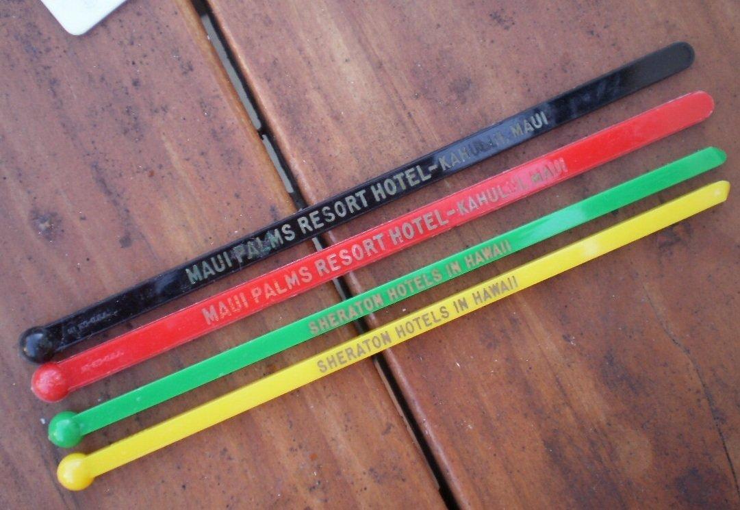 Hawaii Swizzle Sticks Maui Palms Resort Sheraton Hotel Lot 4