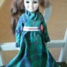 Crissy Doll Ideal 1969 Green Dress Yellow Shoes