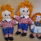 Raggedy Ann Andy Plush Ornaments Knickerbocker Hallmark Lot