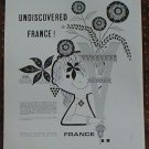 Undiscovered France French Tourist Office Vintage Ad 1961