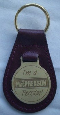 Team MacPherson Person Leather Keychain Vintage